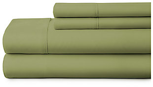 4 Piece Premium Ultra Soft Twin Bed Sheet Set, Sage, large