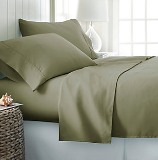 4 Piece Premium Ultra Soft Twin Sheet Set, Sage, rollover