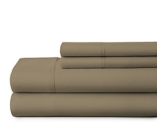 3 Piece Premium Ultra Soft Twin Sheet Set, Taupe, large