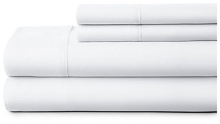 4 Piece Premium Ultra Soft Queen Bed Sheet Set, White, large
