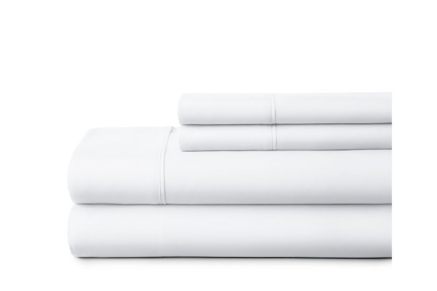 3 Piece Premium Ultra Soft Twin Sheet Set, White, large