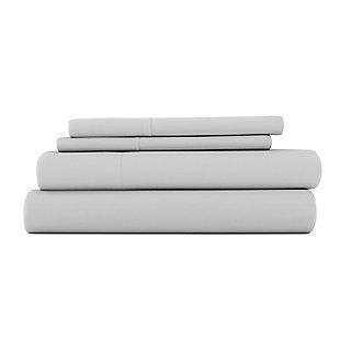 3 Piece Premium Ultra Soft Twin XL Sheet Set, Light Gray, rollover