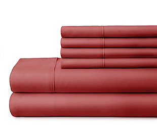 3 Piece Luxury Ultra Soft Twin Sheet Set, Burgundy, large