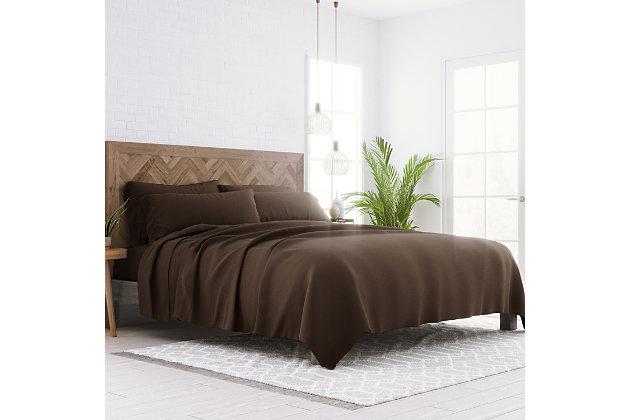 3 Piece Luxury Ultra Soft Twin Sheet Set, Chocolate, large