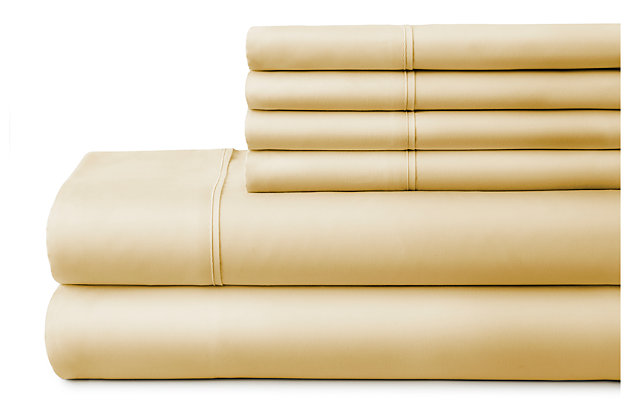 3 Piece Luxury Ultra Soft Twin Bed Sheet Set, Gold, large