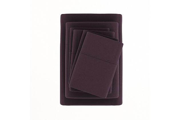 3 Piece Luxury Ultra Soft Twin Sheet Set, Purple, large