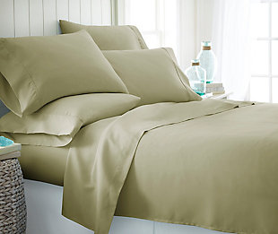 6 Piece Luxury Ultra Soft Twin Bed Sheet Set, Sage, rollover