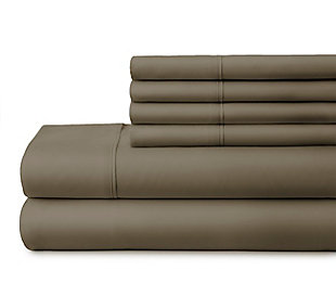 3 Piece Luxury Ultra Soft Twin Sheet Set, Taupe, large