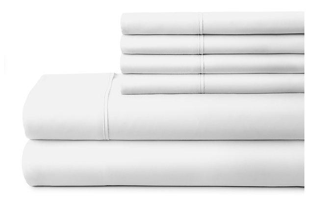 3 Piece Luxury Ultra Soft Twin Bed Sheet Set, White, large