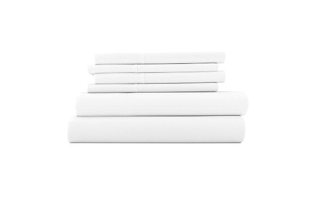 3 Piece Luxury Ultra Soft Twin Sheet Set, White, large