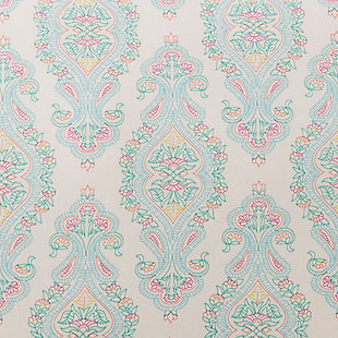 Transitional Euro Sham, Aqua/Bright Pink/White, rollover