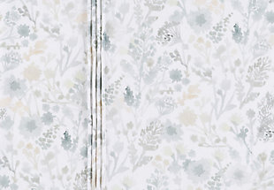 Watercolor Design Euro Sham, White/Sea Foam/Sage, rollover