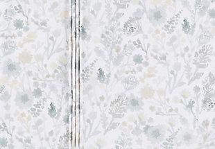 Watercolor Design 2 Piece Twin Duvet Bedding Set, White/Sea Foam/Sage, rollover