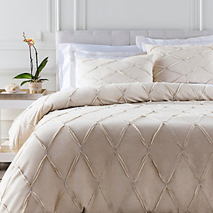 Metalic Threading 2 Piece Twin Duvet Bedding Set, Light Gray/Metallic, large