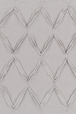 Metalic Threading 3 Piece Full/Queen Duvet Bedding Set, Medium Gray/Metallic, large