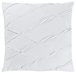 Metalic Threading Euro Sham, White, large