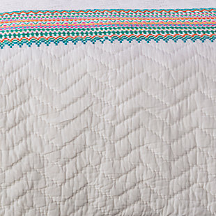Modern Twin Quilt, Multi, large