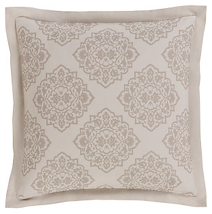 Transitional Euro Sham, Ivory/Light Gray, large