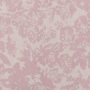 Floral Pattern Euro Sham, Rose/Light Gray, large