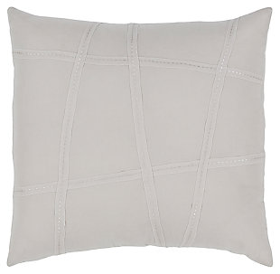 Textured Cotton Euro Sham, Light Gray/Beige, rollover