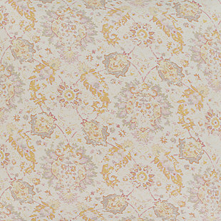 Botanical 2 Piece Twin Duvet Bedding Set, Rose/Light Gray/Mustard, rollover
