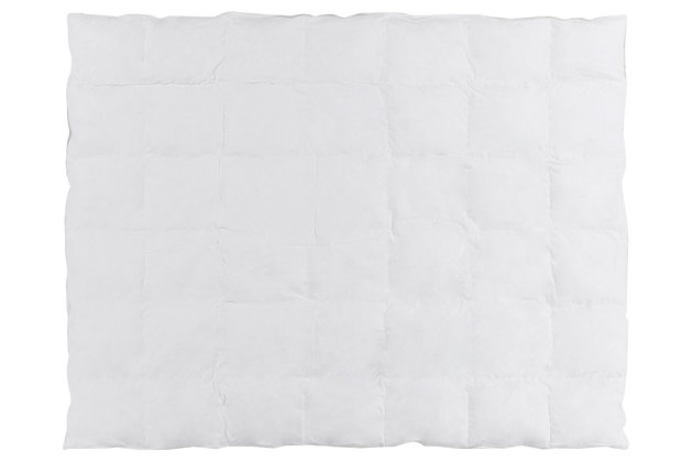 Poly Filled Twin Duvet Insert, White, large