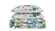 3 Piece Full or Queen Oceanfront Resort Tropical Bungalow Duvet Set, White, large