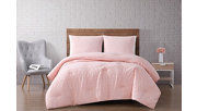 3 Piece Full or Queen Brooklyn Loom Chicago Woven Duvet Cover Set, Blush Pink, large