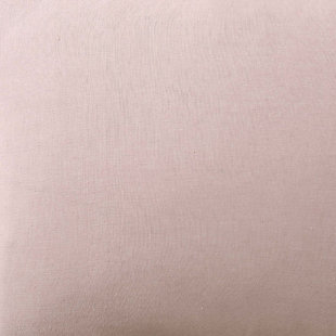 Linen Brooklyn Loom Full/Queen Duvet Set, Blush Pink, large