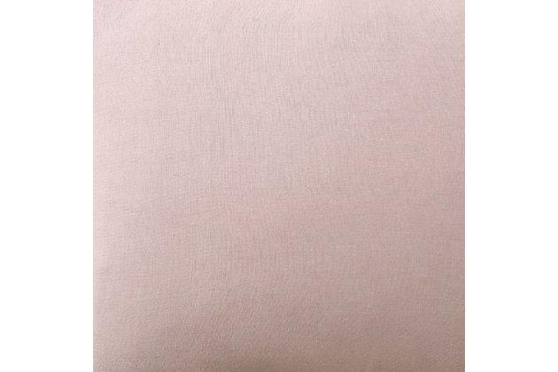 3 Piece Full or Queen Brooklyn Loom Linen Blush Duvet Set, Blush Pink, large