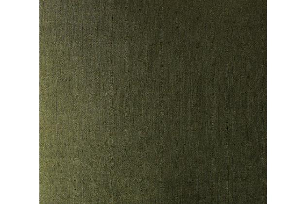 3 Piece King Brooklyn Loom Linen Olive Green Duvet Set, Olive Green, large