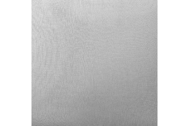3 Piece Full or Queen Brooklyn Loom Linen Platinum Duvet Set, Platinum, large
