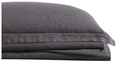 Linen Brooklyn Loom Queen Sheet Set, Charcoal, large