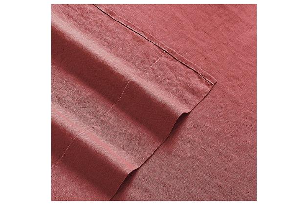 Linen Brooklyn Loom Queen Sheet Set, Dusty Rose, large