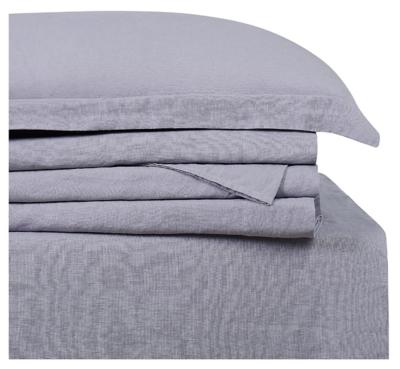 Linen Brooklyn Loom Queen Sheet Set, Gray, large