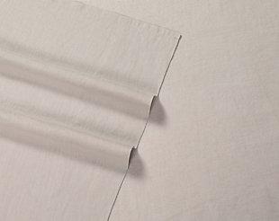 4 Piece Queen Brooklyn Loom Linen Natural Sheet Set, Cream, large