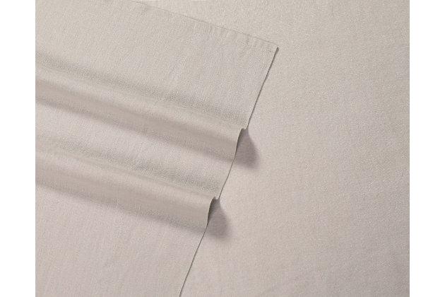Linen Brooklyn Loom Queen Sheet Set, Cream, large