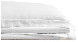 Linen Brooklyn Loom Queen Sheet Set, White, large