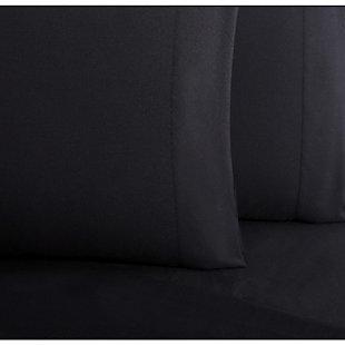 Microfiber Truly Soft Twin Sheet Set, Black, large