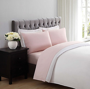 Microfiber Truly Soft Twin Sheet Set, Blush Pink, rollover