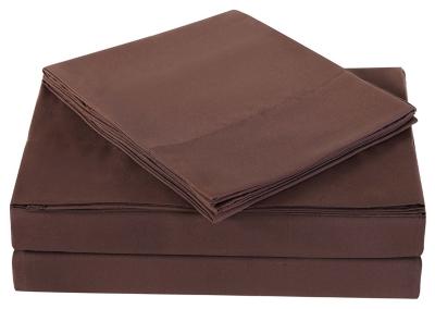 Microfiber Truly Soft Twin Sheet Set, Chocolate, large