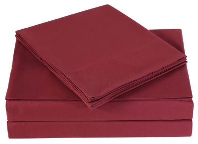 Microfiber Truly Soft Twin Sheet Set, Burgundy, large