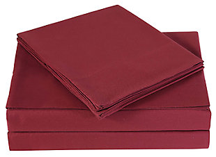 Microfiber Truly Soft Twin Sheet Set, Burgundy, large