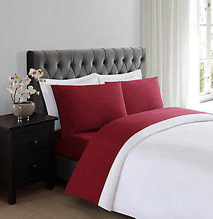 Microfiber Truly Soft Twin Sheet Set, Burgundy, rollover