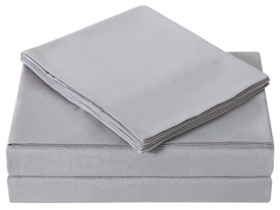 Microfiber Truly Soft Twin Sheet Set, Gray, large
