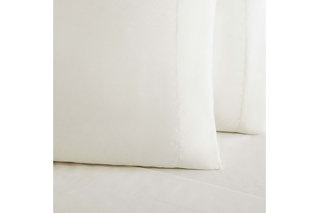 3 Piece Twin Truly Soft Everyday Ivory Sheet Set, Ivory, large