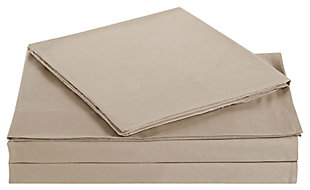 Microfiber Truly Soft Twin Sheet Set, Khaki, large