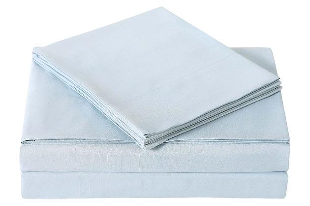 Microfiber Truly Soft Twin Sheet Set, Light Blue, large
