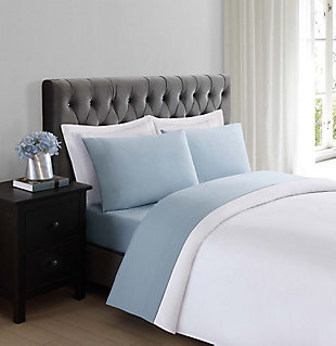 Microfiber Truly Soft Twin Sheet Set, Light Blue, rollover