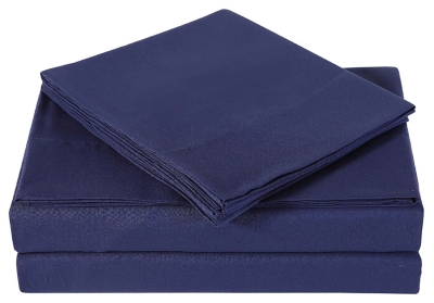 Microfiber Truly Soft Twin Sheet Set, Navy, large
